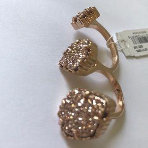 Kendra Scott NWT rose gold Naomi ring Drusy
